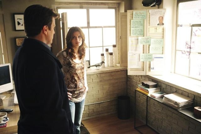 "CASTLE - ""Knockdown"" - Old wounds are reopened when the retired lead detective on Beckett's mother's homicide case contacts her with new information, but then is gunned down right in front of Beckett before he can tell her what he knows. The investigation into his death leads back to a decades-old conspiracy that may hold the answer to who was behind Beckett's mother murder and why. With the stakes and emotions running high, Castle and Beckett take their partnership to the next level, on ""Castle,"" MONDAY, JANUARY 24 (10:01-11:00 p.m. ET). Max Martini guest stars. (ABC/ADAM TAYLOR) NATHAN FILLION, STANA KATIC"